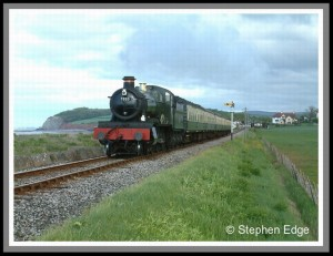 Dinmore Manor pulling away from Blue Anchor